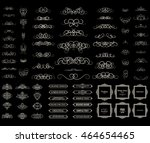 vintage set exclusive borders... | Shutterstock .eps vector #464654465