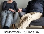 cropped view of older couple... | Shutterstock . vector #464655107