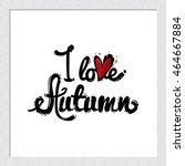 beautiful hand drawn fashion...   Shutterstock .eps vector #464667884