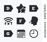 energy efficiency class icons.... | Shutterstock .eps vector #464676941