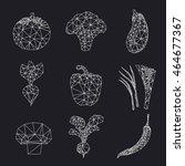 vector polygonal vegetables set....   Shutterstock .eps vector #464677367
