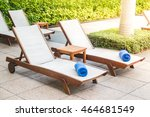 umbrella and chair decoration... | Shutterstock . vector #464681549
