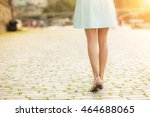 close up of fashionable woman... | Shutterstock . vector #464688065