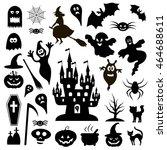 halloween vector icons | Shutterstock .eps vector #464688611