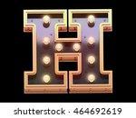 Golden Lamp Signboard Font.3d...