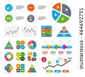 data pie chart and graphs. byod ...   Shutterstock .eps vector #464692751