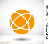 global technology icon | Shutterstock .eps vector #464697401