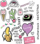 cute vintage collection.... | Shutterstock .eps vector #464707964