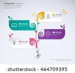 tree infographic concept design.... | Shutterstock .eps vector #464709395