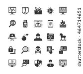 hacker black icons set.... | Shutterstock .eps vector #464714651