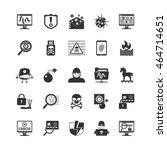 hacker black icons set.... | Shutterstock .eps vector #464714651