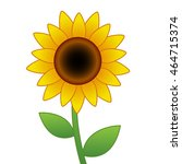 Cartoon Vector Sunflower...