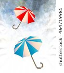 umbrellas circling in the... | Shutterstock . vector #464719985