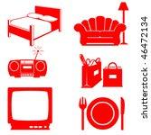household icons   Shutterstock . vector #46472134