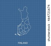 map of finland | Shutterstock .eps vector #464721674