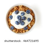 bowl of whole grain muesli with ... | Shutterstock . vector #464721695