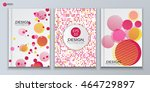 a5 brochure cover design with... | Shutterstock .eps vector #464729897