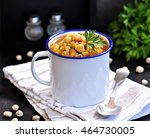 soup with chickpeas  lentils ... | Shutterstock . vector #464730005