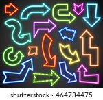 neon arrows | Shutterstock .eps vector #464734475