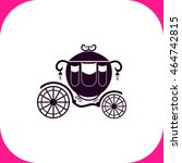 carriage vector icon on white... | Shutterstock .eps vector #464742815