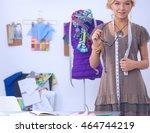modern young fashion designer... | Shutterstock . vector #464744219