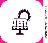 solar collector vector icon on...   Shutterstock .eps vector #464745347