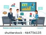 business professional work.... | Shutterstock .eps vector #464756135