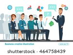 business professional meeting.... | Shutterstock .eps vector #464758439