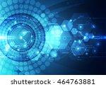 vector digital speed technology ... | Shutterstock .eps vector #464763881