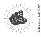 human hand  pointing finger...   Shutterstock .eps vector #464764979