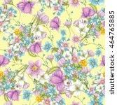 seamless pattern of beautiful... | Shutterstock . vector #464765885