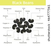 black beans nutrients and... | Shutterstock .eps vector #464777561