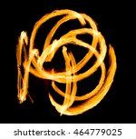 flaming trails night... | Shutterstock . vector #464779025
