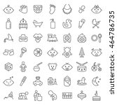 baby icon set in thin line...   Shutterstock .eps vector #464786735