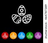 web line icon. easter eggs | Shutterstock .eps vector #464787389