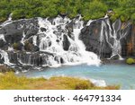 hraunfossar  waterfall in...   Shutterstock . vector #464791334