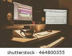 home recording studio  music... | Shutterstock . vector #464800355
