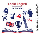 learn english in london poster  ...   Shutterstock .eps vector #464801435