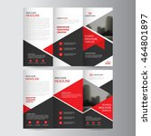 red triangle business trifold ... | Shutterstock .eps vector #464801897