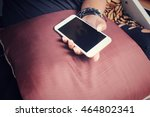 woman using smart phone | Shutterstock . vector #464802341