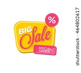sale banner discount   black... | Shutterstock .eps vector #464802617