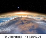 planet earth with a spectacular ... | Shutterstock . vector #464804105