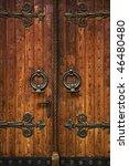 Church Doorway. Massive Wooden...