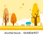 autumn landscape with the... | Shutterstock .eps vector #464806907