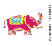 color graphic vector indian... | Shutterstock .eps vector #464808659