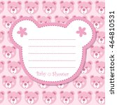 baby shower invitation with... | Shutterstock . vector #464810531