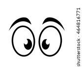 eye surprised look vision... | Shutterstock .eps vector #464816771