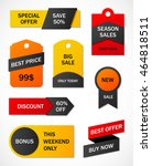 vector stickers  price tag ... | Shutterstock .eps vector #464818511
