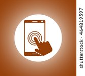 touch screen smartphone icon....