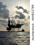 offshore construction platform... | Shutterstock . vector #464822789